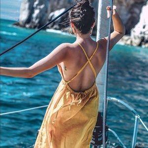 Dresses & Skirts - Posse mustard low back dress Small
